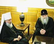 Митрополит Кирилл и Владыка Андриан