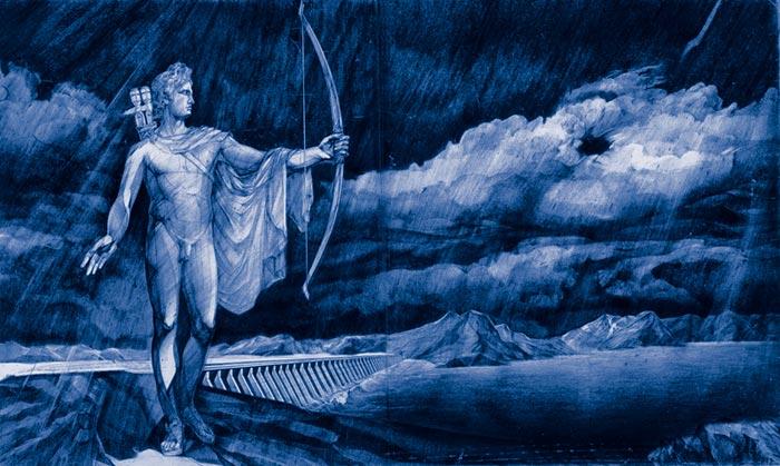 Аполлон - покровитель наук и искусств в грядущей столице Евразии (А. Беляев-Гинтовт)