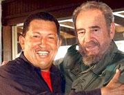 Во главе непокорной Южной Америки стали президенты Кубы и Венесуэлы – Кастро и Чавес