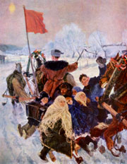 Пластов Аркадий ''Едут на выборы'' 1947