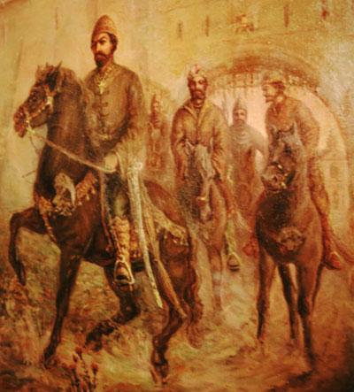 Опричники – картина выставлена в Александровской слободе