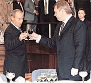 Путин пьёт с Касьяновым