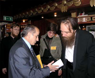 З. К. Юзбеков и А. Г. Дугин на открытии Евразийского экономического клуба